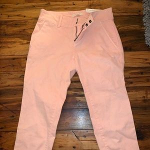 Loft pink pants - with tags - 0PETITE